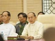 Le président birman s'entretient avec Aung San Suu Kyi