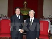 Les dirigeants vietnamiens reçoivent une délégation laotienne