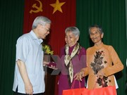 Le secrétaire général Nguyên Phu Trong en visite à Soc Trang