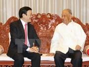 Le chef de l'Etat rencontre d'anciens dirigeants laotiens