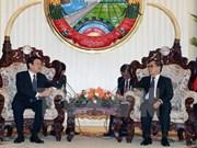 Le chef de l'Etat rencontre des dirigeants laotiens