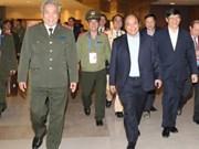 Le vice-PM Nguyen Xuan Phuc inspecte les services de sécurité et de santé de l'IPU-132