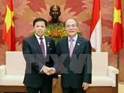 Nguyen Sinh Hung reçoit le président de la Chambre basse indonésienne