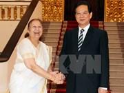 Nguyên Tân Dung reçoit des responsables parlementaires laotiens et indiens