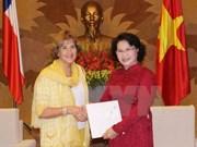 Vietnam-Chili: renforcement des relations entre les deux organes législatifs