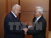 Le vice-président de l'AN Uong Chu Luu reçoit des délégations parlementaires bulgare et palestinienne