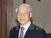 Le secrétaire général du PCV arrive à Pékin