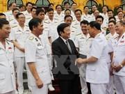 Le président Truong Tan Sang salue le 60e anniversaire de la Marine populaire