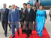 Le président Truong Tan Sang entame sa visite en Azerbaïdjan