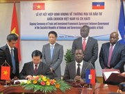 VN et Haïti signent l'accord-cadre sur le commerce et l'investissement