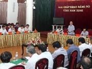 Le président de l'AN en visite à Nam Dinh