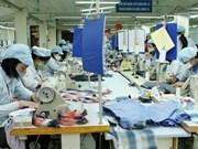 La production industrielle sur une pente ascendente