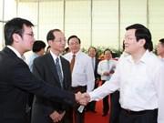 Truong Tan Sang en visite à Binh Duong