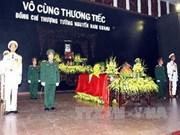 Funérailles du général de corps d'armée Nguyen Nam Khanh