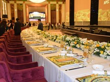 Les produits de Minh Long utilisés lors du dîner de gala de l'APEC 2017