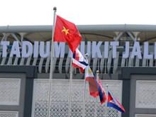 Images de la cérémonie de lever des drapeaux des pays participant aux SEA Games 29