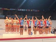 Gymnastique : le Vietnam remporte trois médailles d'or au Japon