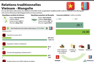 Relations de coopération traditionnelle Vietnam-Mongolie