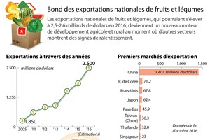 Bond des exportations nationales de fruits et légumes
