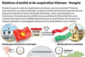 [Infographie] Relations d'amitié et de coopération Vietnam - Hongrie