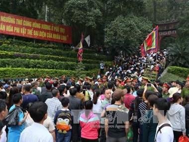 Tet : un million de personnes ont afflué aux Temples des rois Hung