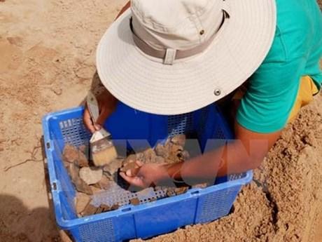30.000 reliques découvertes dans le tertre Go Cây Me à Binh Dinh