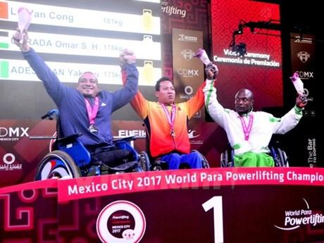 Mondiaux d'haltérophilie handisport: le Vietnam se parent d'or et d'argent