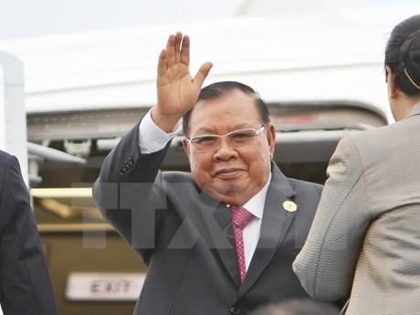 Le secrétaire général du PPRL et président laotien attendu au Vietnam