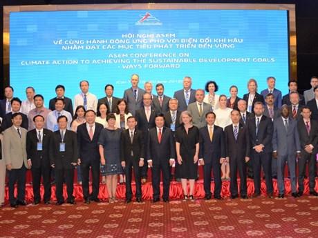 Clôture de la conférence de l'ASEM sur le climat et le développement durable à Cân Tho