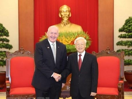 Le secrétaire général du Parti reçoit le gouverneur général d'Australie